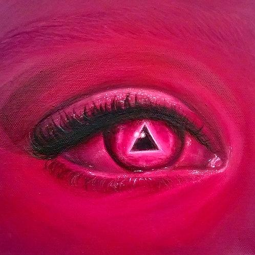 """Original """"Optophobia"""" Painting"""