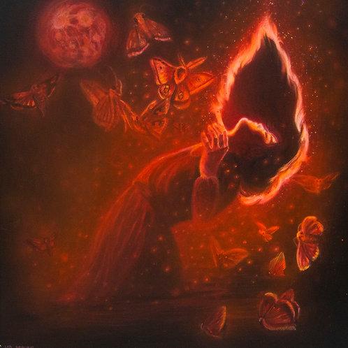 "Original ""Flames"" Painting"