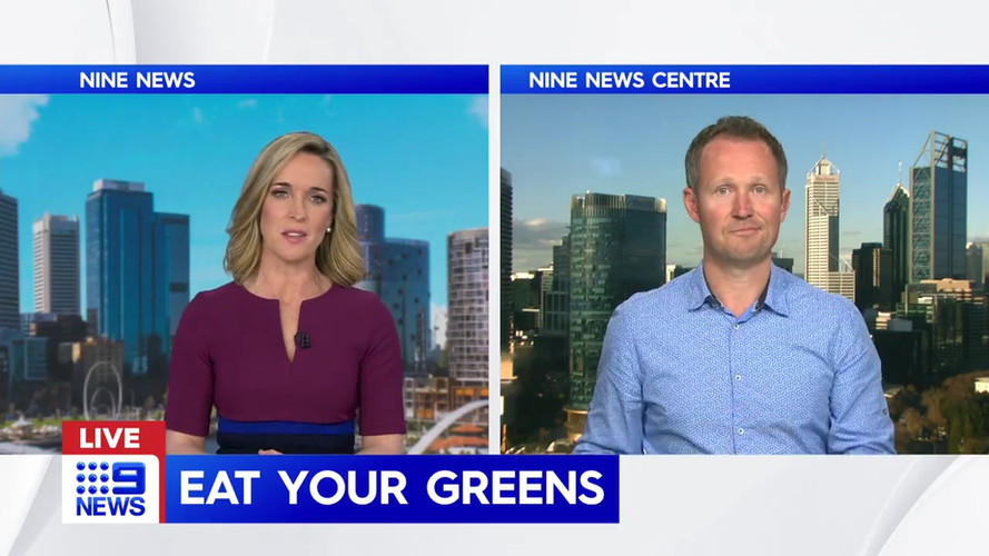 Nutrition Nation talking to Channel 9 News Perth