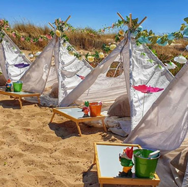 Beach wedding teepee hire