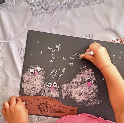 Childrens chalk artwork