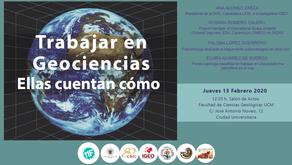 III Jornada Mujeres y Geología: Trabajar en Geociencias. Ellas cuentan cómo