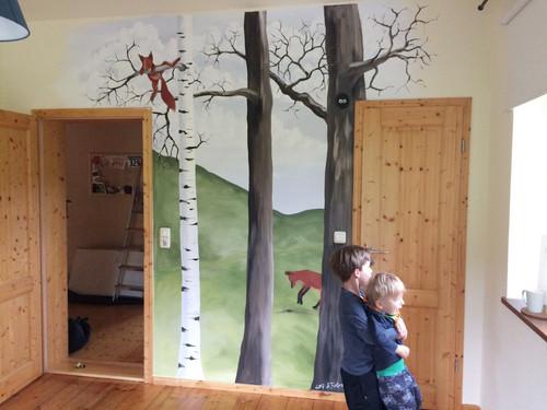 Kleiner Wald im Kinderzimmer