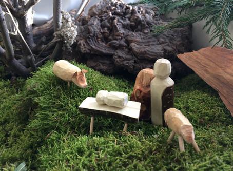 Kinderschnitzkurs Krippenfiguren aus Astholz
