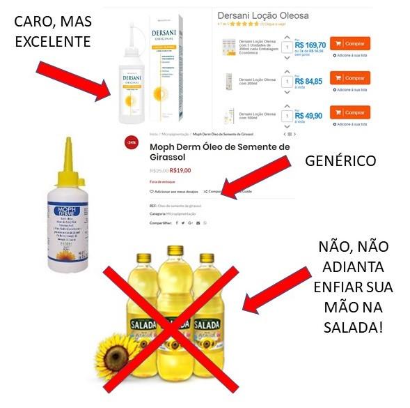 Dersani, Genéricos e outros óleos de girassol.