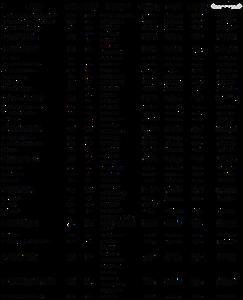 Tabela detalhada com os dados, nomes dos desafiantes, fundamentos executados, cargas utilizadas. Desafio KGB 2018.