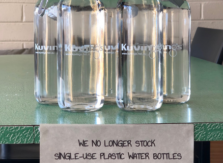 Sprout Eden says no to single use plastic water bottles