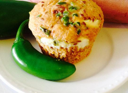 Sweet Potato Roasted Jalapeno & Goat Cheese Muffin