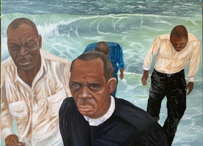 Galveston Bay Baptisms, 30x40 in.