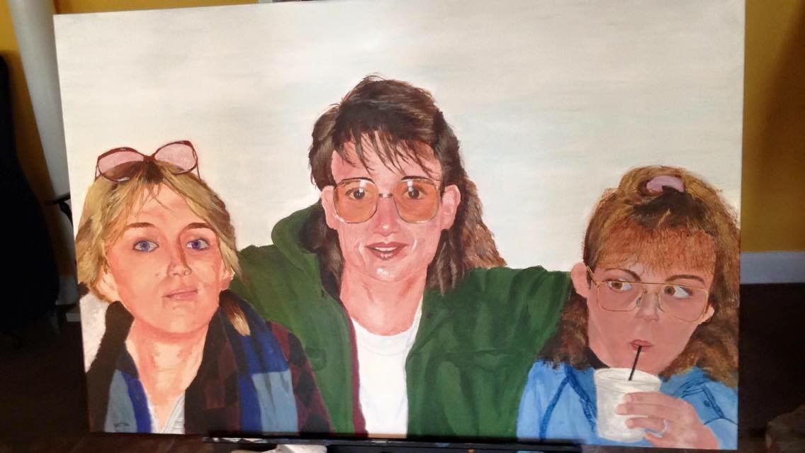Desra and her Sisters, 24x36 in.