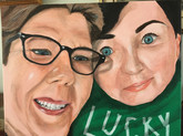 Colleen and Sallie, 16x20 in.
