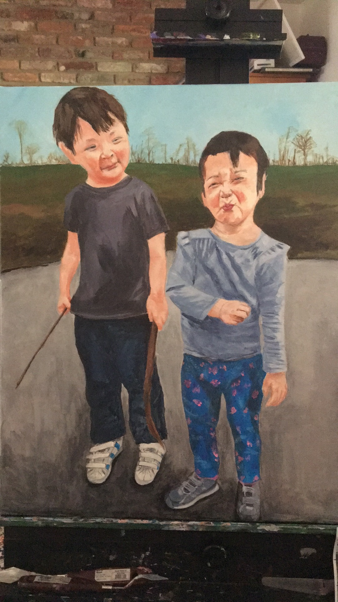 Alex and Kate, 20x16 in.