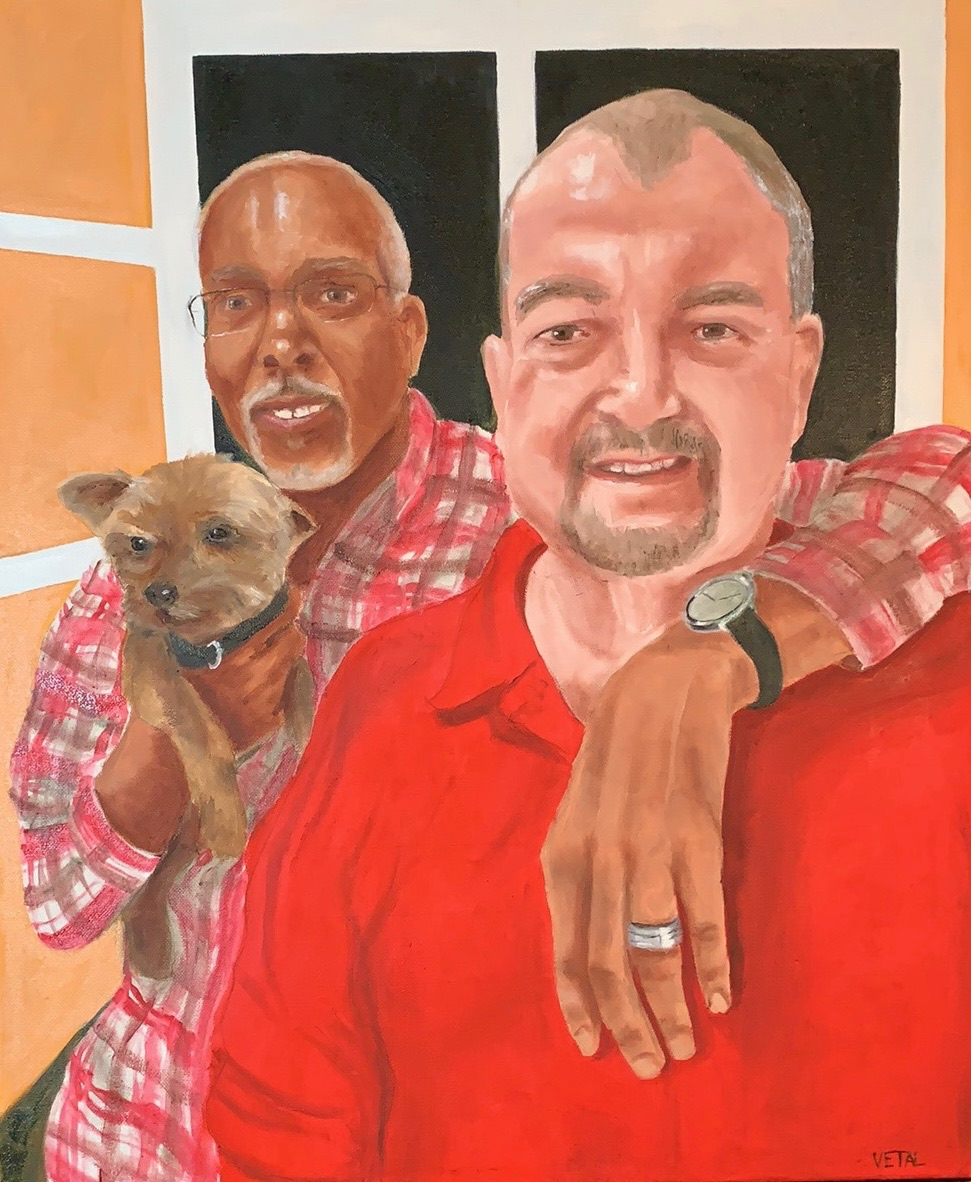Roscoe's Owners, 24x18 in.