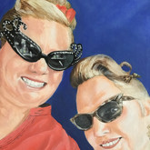 Heather and Jamie, 12x12 in.