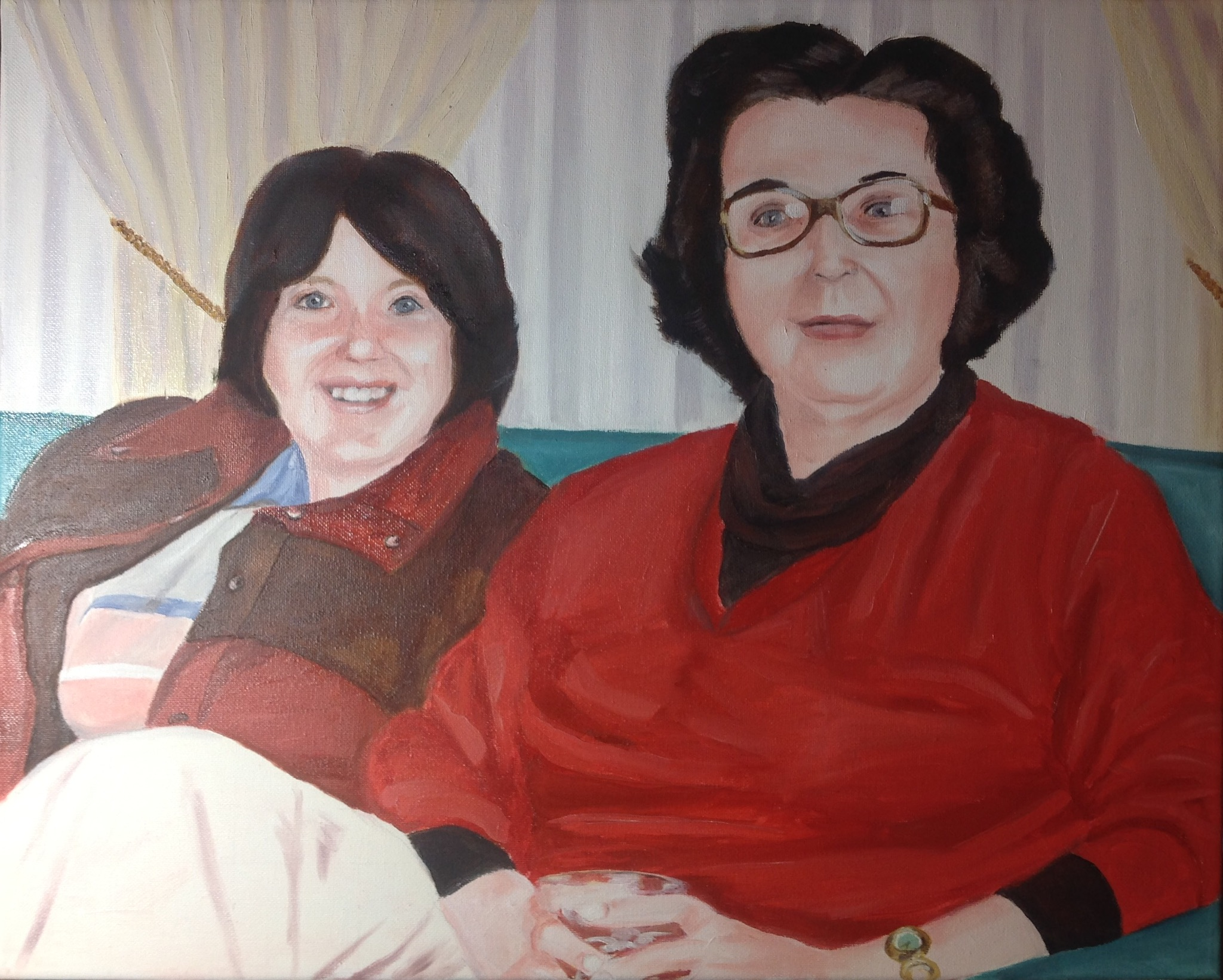 Eileen and Chook, 18x24 in.