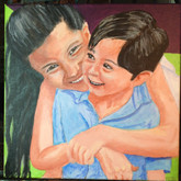 Giselle and Oliver, 12x12 in.