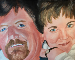 Patty and Greg, 16x20 in.