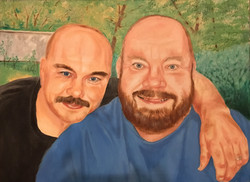 Brian and John, 18x24 in.