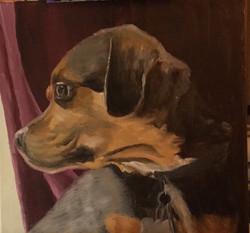 Isaiah's Dog, 12x12 in.
