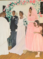 The Wedding, 48x36 in.