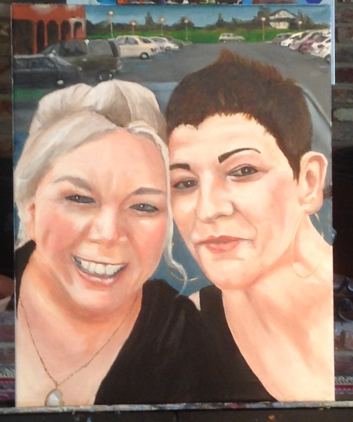 Besties, 24x18 in.