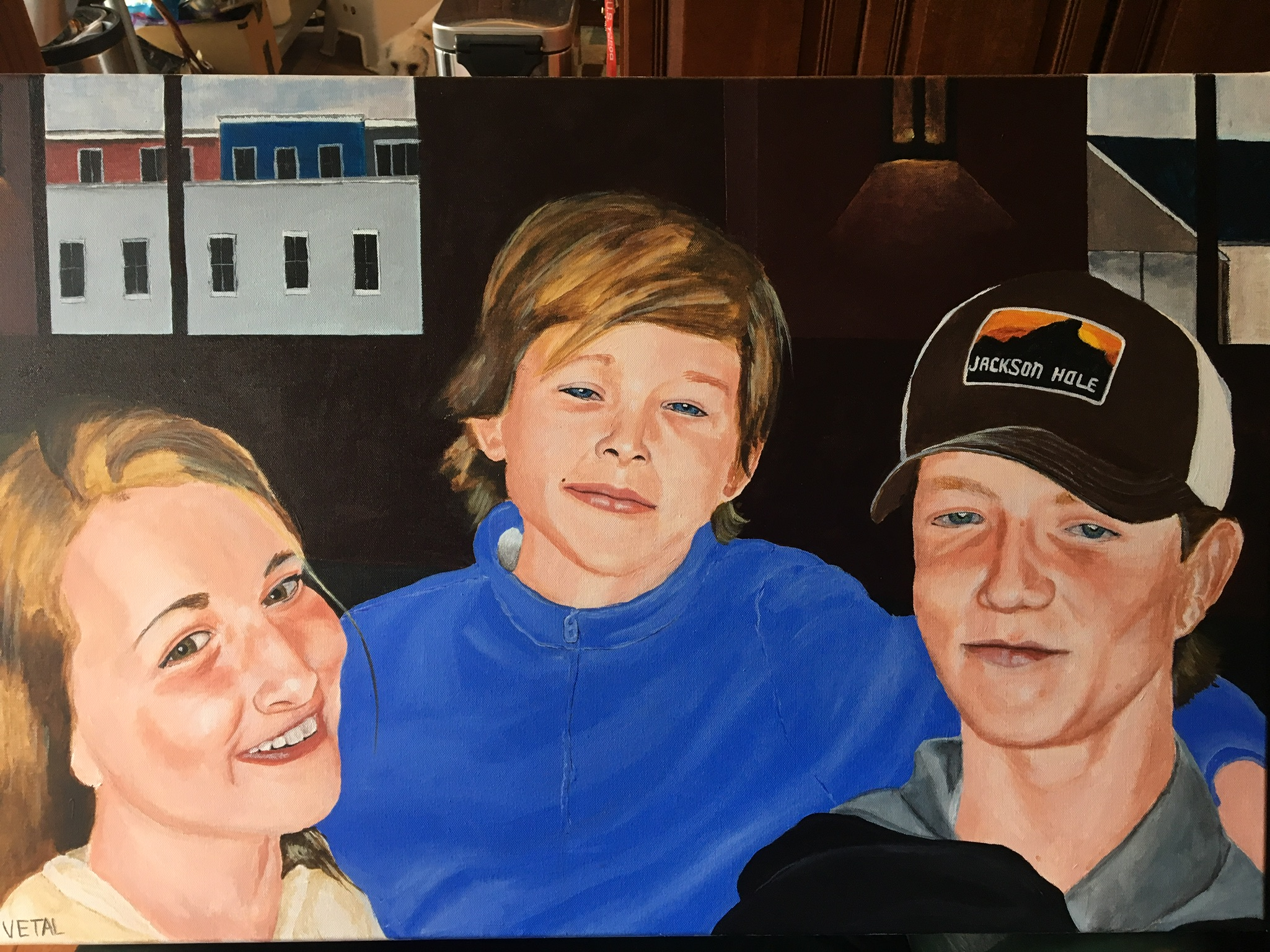 The Merlo Kids, 24x36 in.