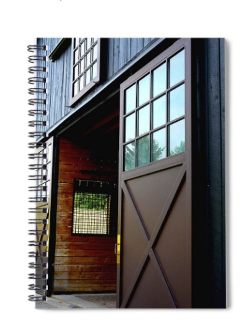 View of Barn Doors, 6x8 Spiral Notebook