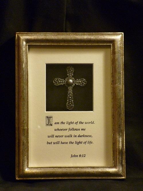 Light of the World, 3D Framed Wall Art with Cross