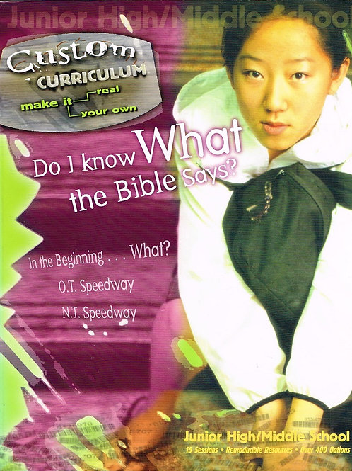 Do I Know What the Bible Says, Custom Curriculum