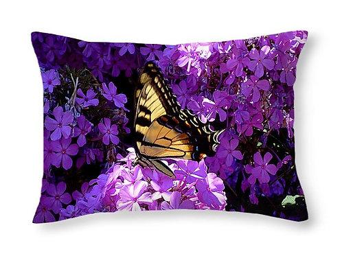 Butterfly on Garden Phlox, 20x14 Rectangular Accent Pillow