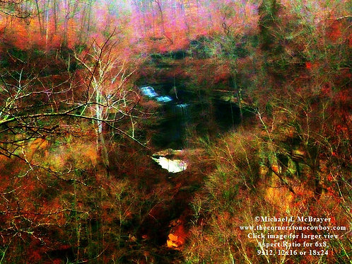 Clifty Falls Abstract Landscape Photo, Outdoor Nature Photography, Unframed Wall