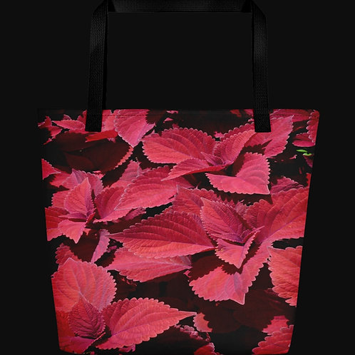 Red Leaf Coleus Close-up, 16x20 ToteBag