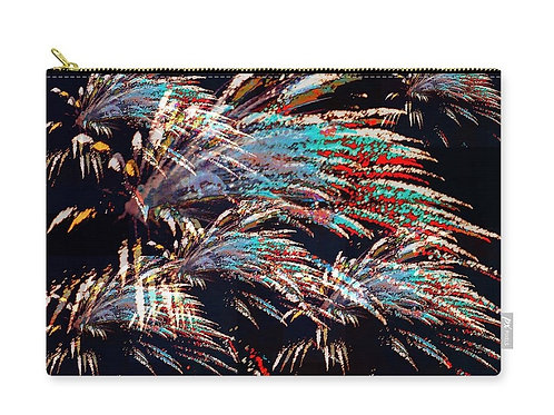 Fireworks Abstract, Digital Composition, Zip Carry Pouch