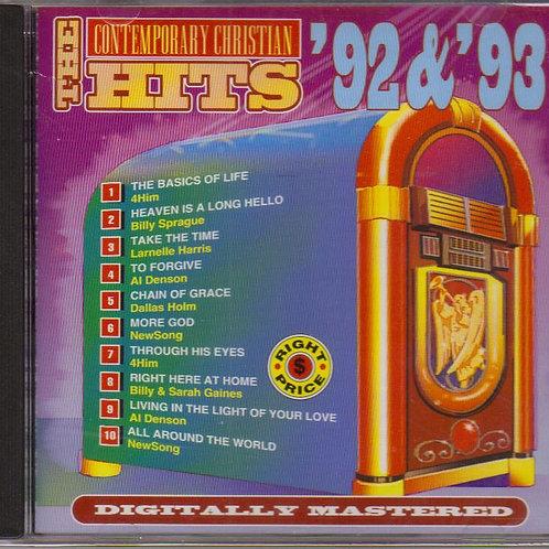 Contemporary Christian Hits 92 93, Music CD, Original Factory Seal
