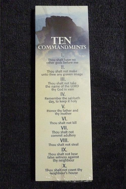 Bookmark Ten Commandments, Pack of 25