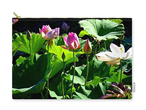 Collection of Lotus Flowers, Zip Carry Pouch