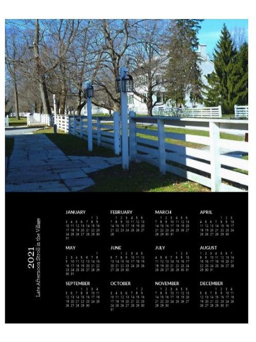 2021 Shaker Village Landscape, 8x10 One Page Calendar