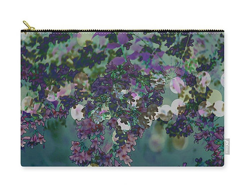 Purple Abstract Closeup of a Beauty Bush, Zip Carry Pouch