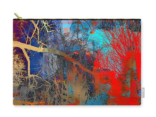 Surreal Tree Canopy Abstract, Zip Carry Pouch