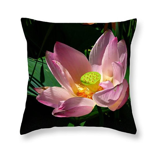 Lotus Blossom, Square Accent Pillow