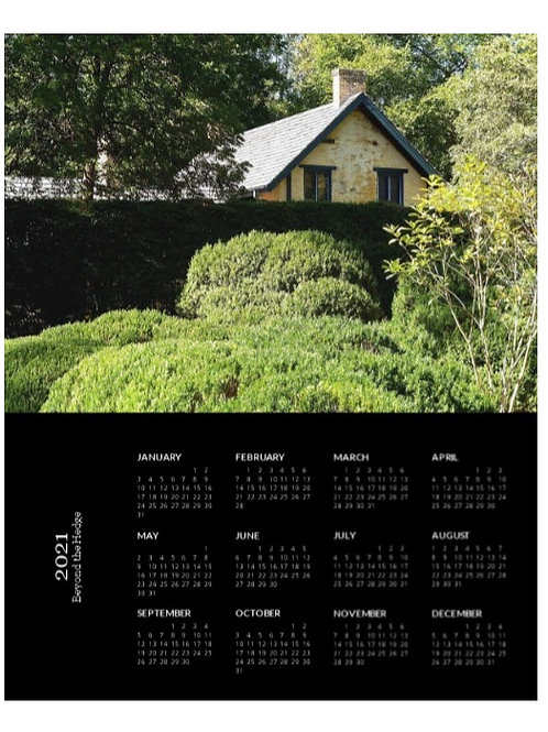 2021 Beyond the Hedge Calendar, 8x10 One Page Calendar
