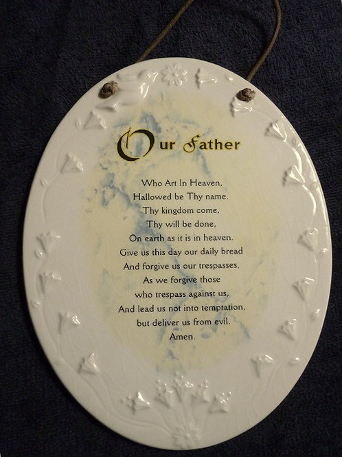 The Lord's Prayer Ceramic Wall Plaque