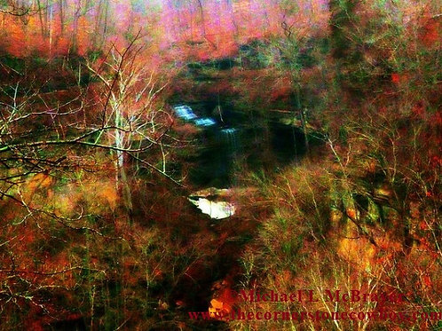 Clifty Falls Abstract Impression Greeting Card, White Envelope