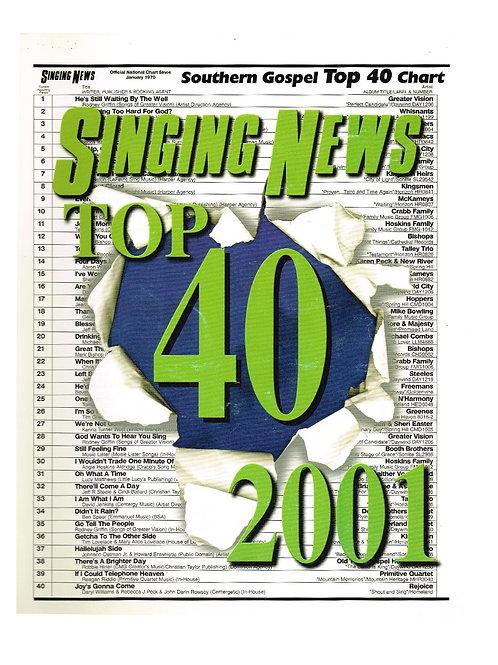 Singing News Top 40 2001 Songbook