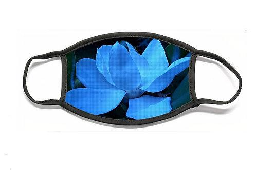 Blue Magnolia, Flat Face Mask, Polyester