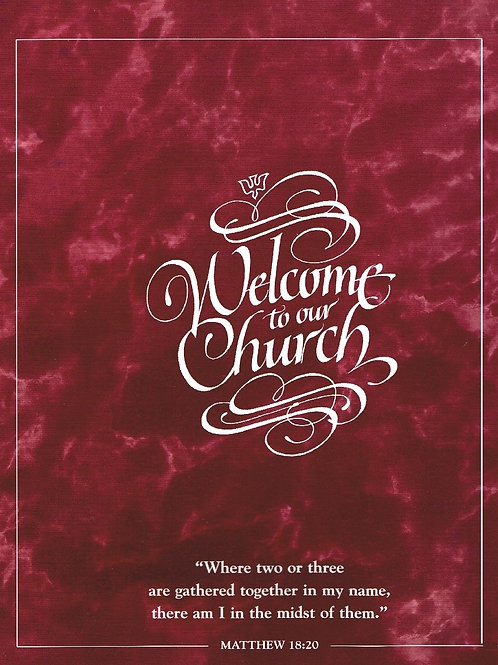 Welcome to our Church, Visitor Information Folders, Pack of 12