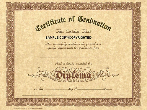 Certificate of Graduation, 8x10 Gold Stamped Certificate, Multi Packs