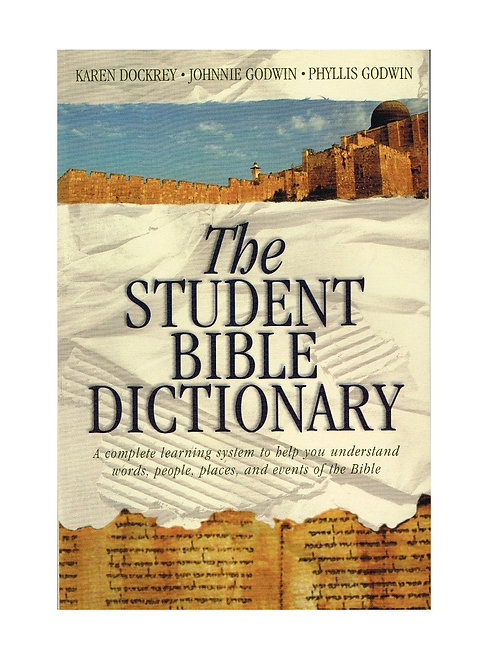 The Student Bible Dictionary, Paperback