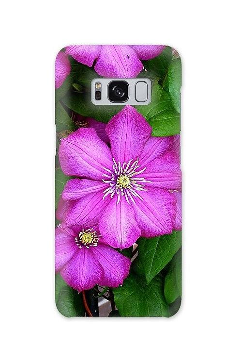 Clematis Flower Closeup, Galaxy S8 Slim Case