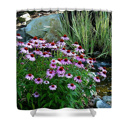 Garden Stream Shower Curtain, 71 wide x 74 tall